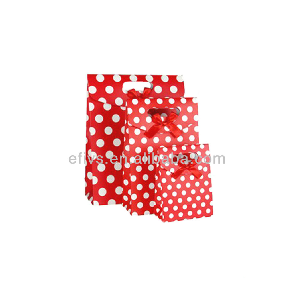 Red&White Polka Dot gift wrapping bag Handmade