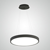 L4U Modern Simple Round Aluminum Acrylic Pendant Lamp Chandelier Circular LED Light