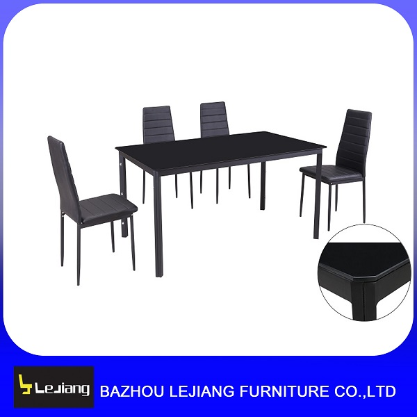 cheap rectangular glass top metal dining <strong>table</strong> and 6 chairs set