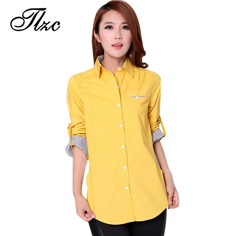 66e0ddf3bfece Get Quotations · TLZC Hot Sale Casual Design Woman Tops 2015 Noble Women  Cotton White Shirt Size S-