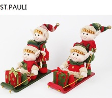 Férias <span class=keywords><strong>artesanato</strong></span> decorativo interno stuffed plush sleighing duendes do <span class=keywords><strong>natal</strong></span> para a venda