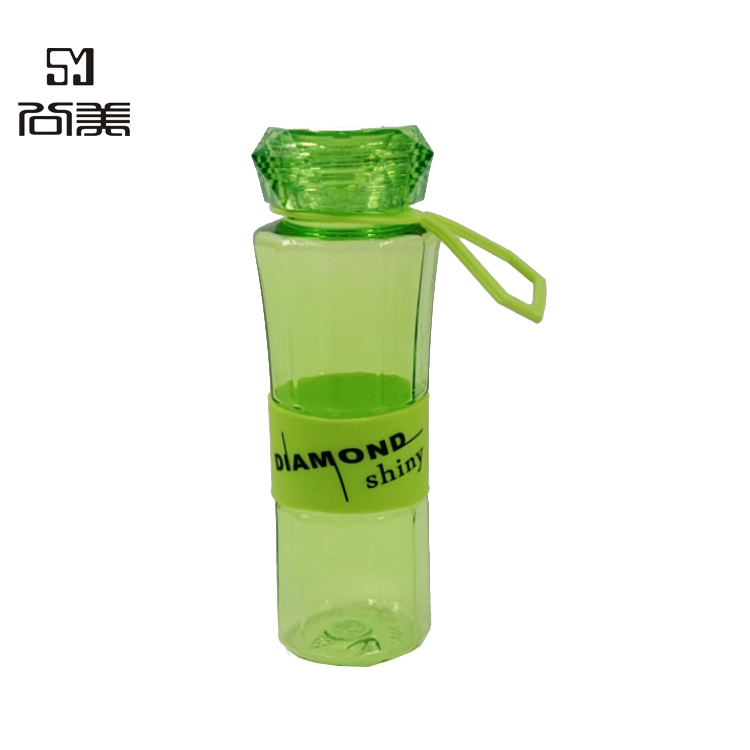 13oz Glitter Slim Diamond Shaped Water Bottle For School with handle