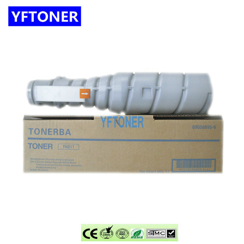 YFTONER TN217 Toner Cartridge Compatible for Konica Minolta Bizhub 223 Copier Parts BH 283 7828 OPC Drum