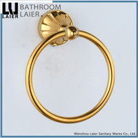11132 wholesale new design bathroom accessories zinc alloy small towel ring titanium finish towel ring
