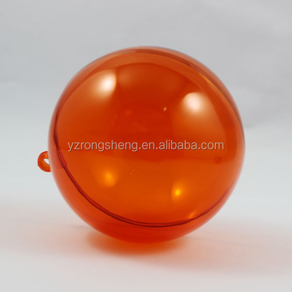 wholesale promotional christmas clear acrylic ball ornament