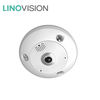 360 Panoramic View 12MP Network Fisheye IP Camera for Video Surveillance in School Library