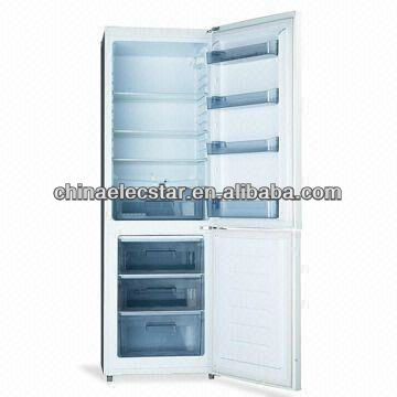 Double door Non-frost Bottom Freezer Refrigerator with Optional Twist Ice Cube Maker and 315L Capacity