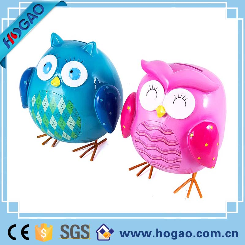 Chinese handmade polyresin owl home decor statue