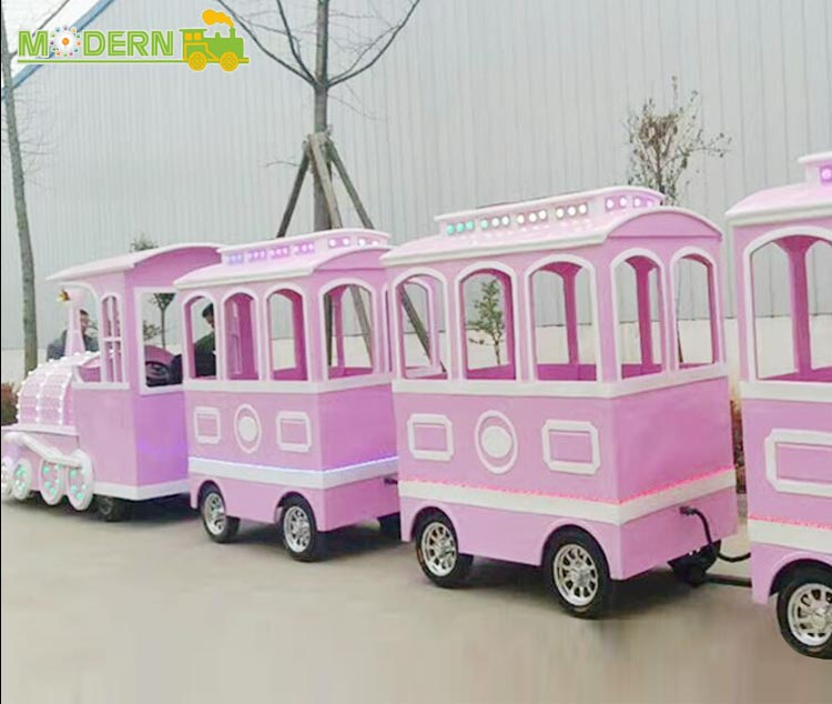Amusement electric carnival tourist trackless train rides for adults&children