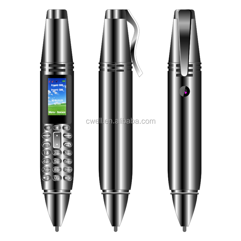 UNIWA AK007 0.96 Inch Screen Dual SIM Card GSM Pen Shaped Made In Japan Mobile Phone