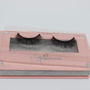100% natural material hand-mad 3D silk eyelashes synthetic lashes