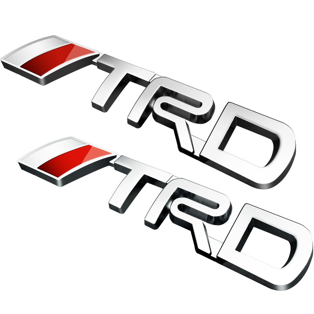 Deselen lp bs09a toyota trd car emblem chrome stickers decals badge labeling for