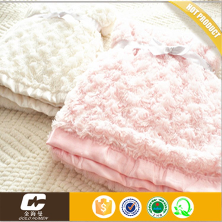 "100%polyester 30""*40"" solid brushed soft pv plush fleece heating blanket"