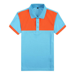 Men polo shirts customized logo new microfiber color combination polo tshirt