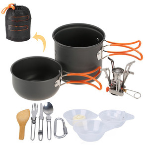 Manufacturing High Quality Outdoor Camping Hiking Cookware for camping