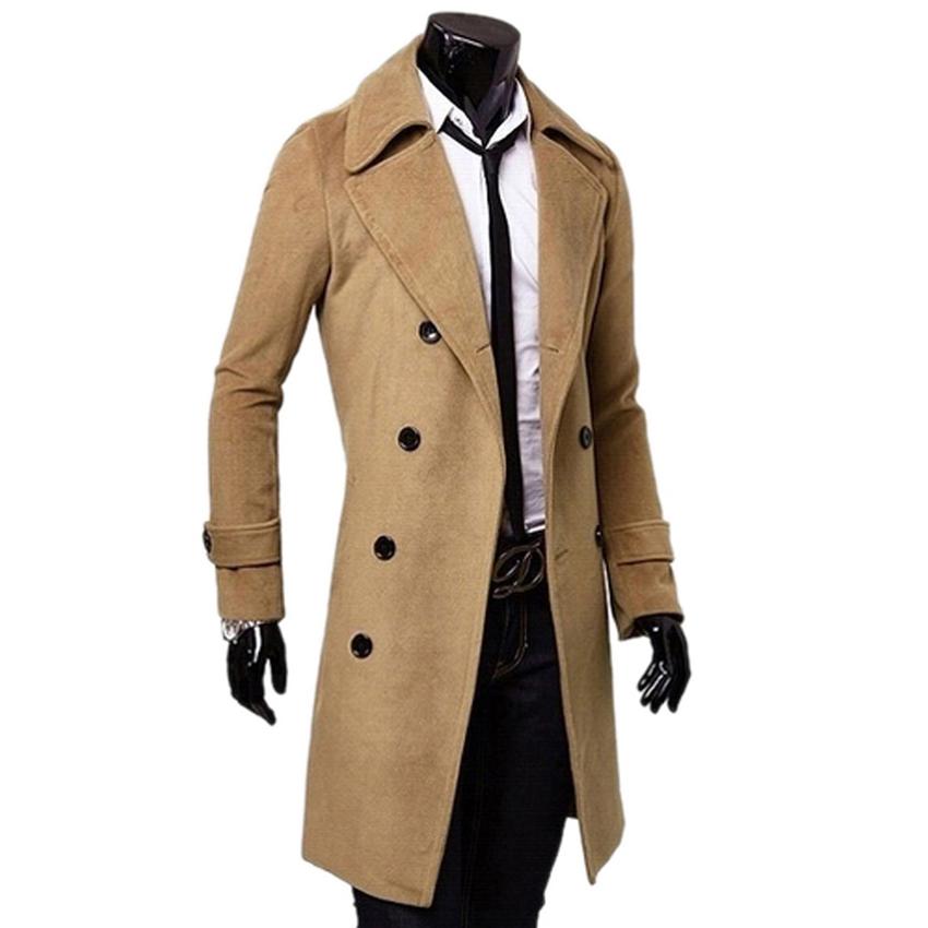 black camel dark grey male trench coat british style. Black Bedroom Furniture Sets. Home Design Ideas