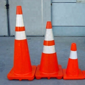 Manufacturer 70 cm 90cm Flexible PVC Safety Traffic Cone Road Cone