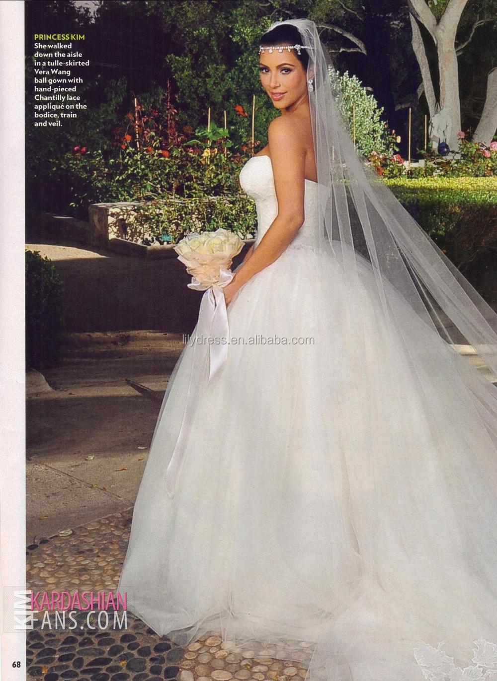 Simple Kim Kardashian Wedding Jewelry With Kris Dress