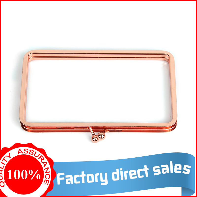 2017 factory direct sale amazing rose gold metal purse frame clutch box