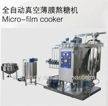 continuous vacuum micro-film hard candy boiling machine