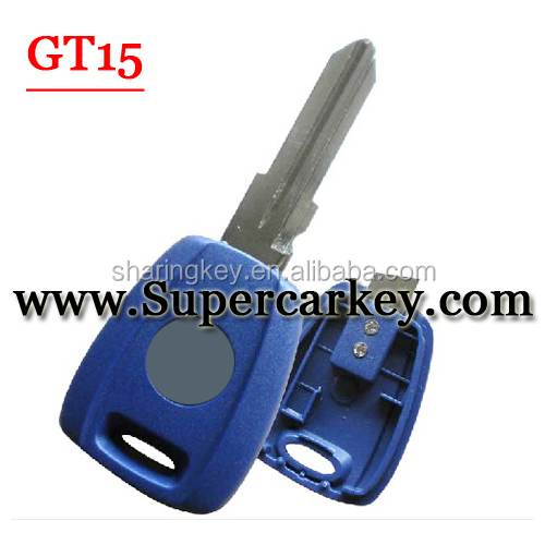 High Quality Transponder Blank Shell For TPX Chip GT15 Blade For Fiat