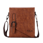 Factory direct new design authentic pu leather messenger bag crossbody bag