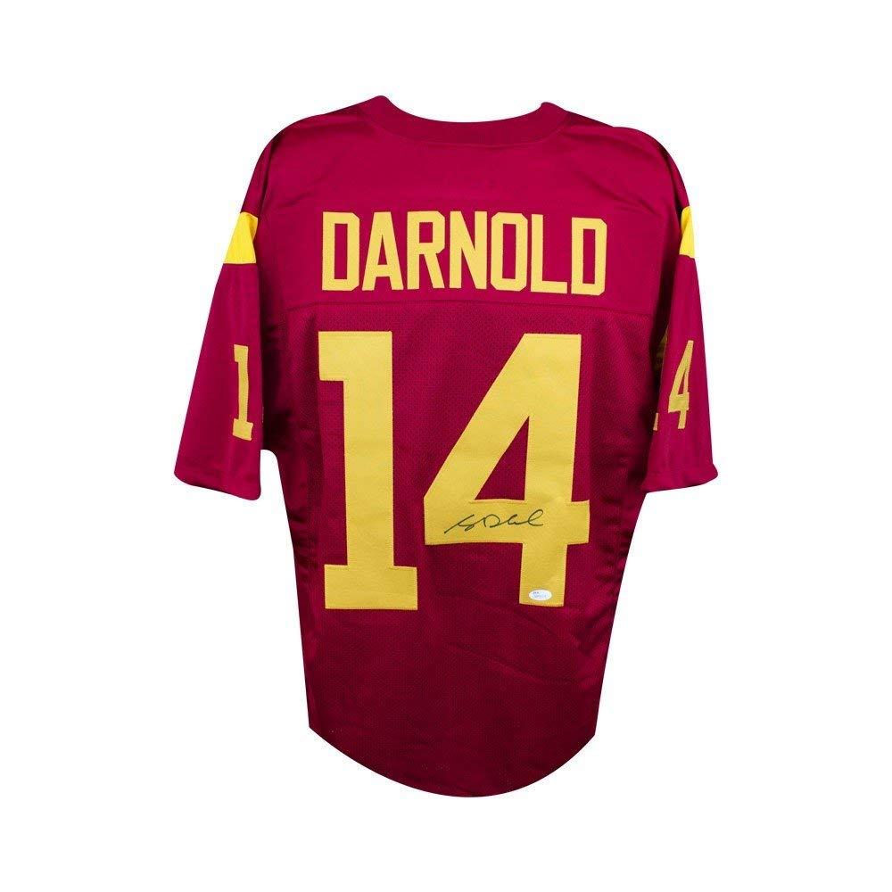 565eee38e Get Quotations · Sam Darnold Autographed USC Trojans Custom Cardinal Football  Jersey - JSA COA