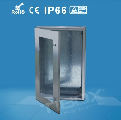 AISI304 /AISI316 stainless steel box with inner door+ toughened glass door-STXP