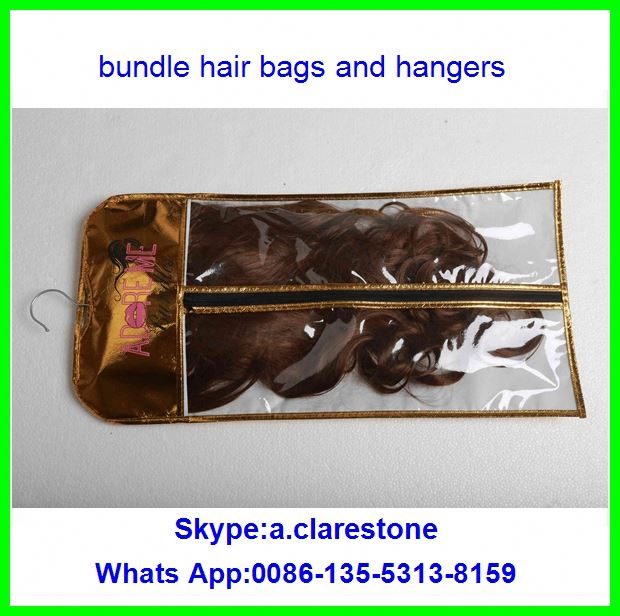 allied human hair package bag and hanger