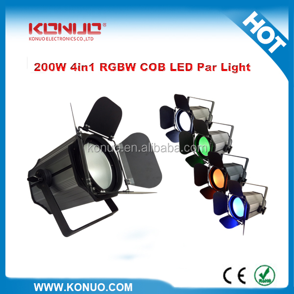 Barndoor COB 200W RGBW 4in1 led par professional lights to dj