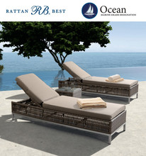 rattan beach sunbed used hotel pool furniture