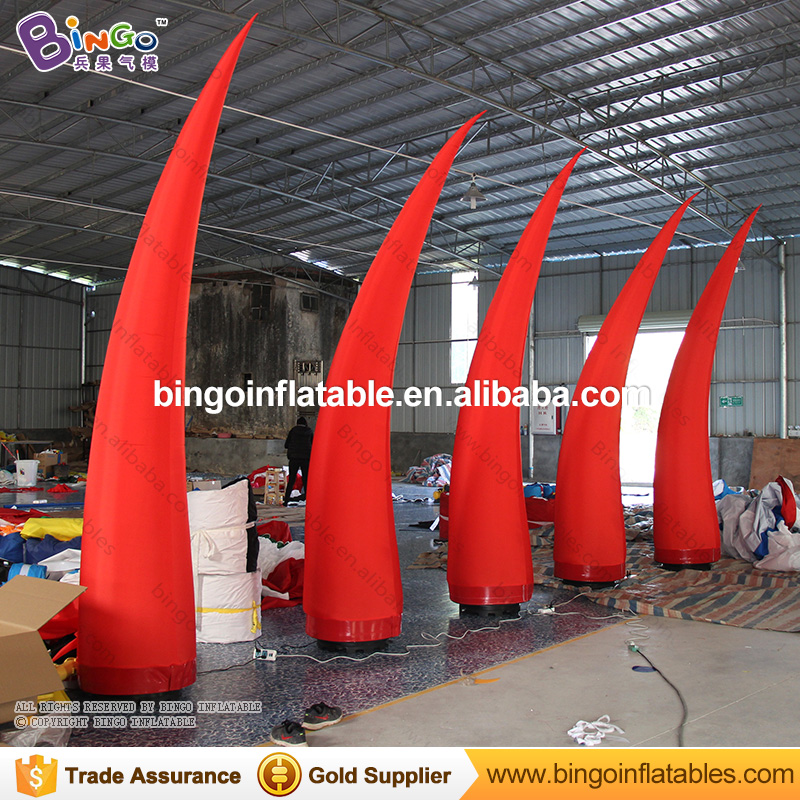 Event decoration Red color LED lighting inflatable cone for sale