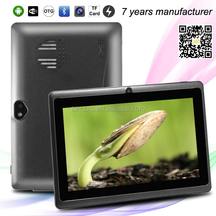 7 inch android 4.4 Allwinner A33 quad core mid and wifi tablet pc 30$ Q88 tablet pc price china