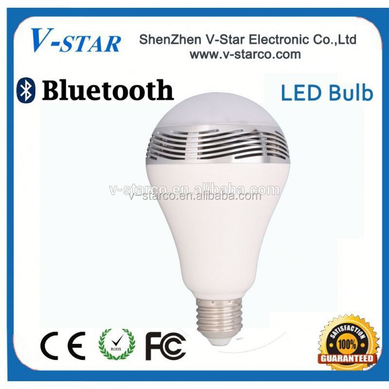 Smart LED bulb with bluetooth speaker, seven color changing, E27 with APP control