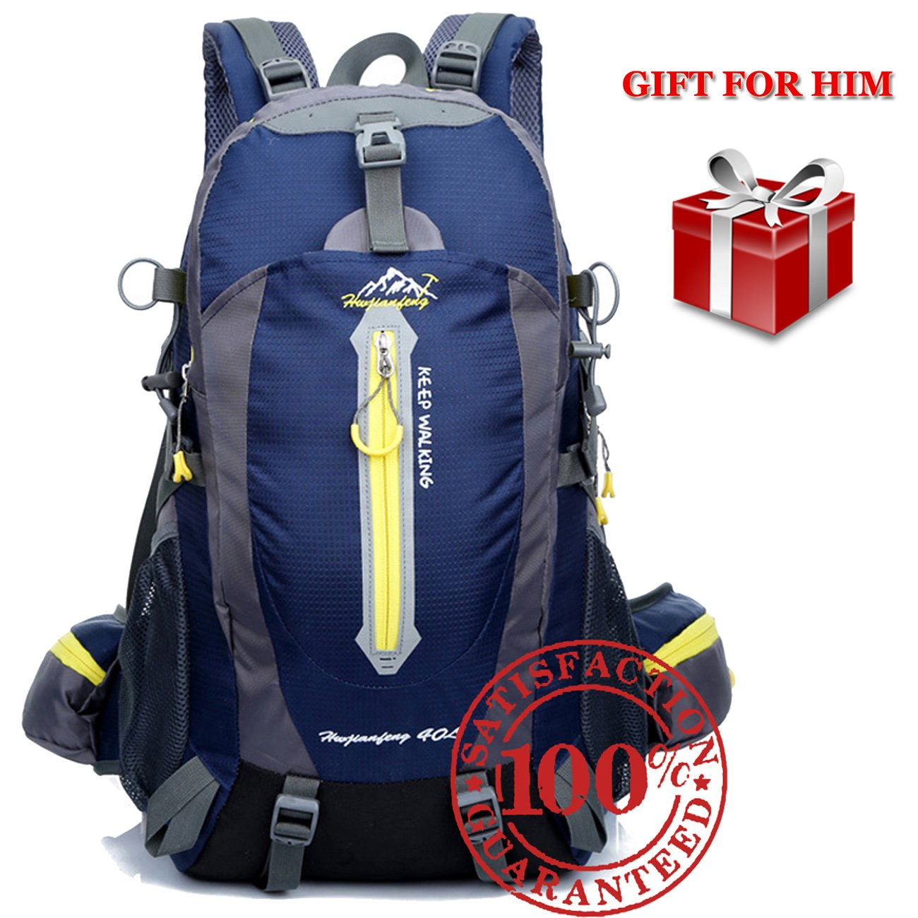Get Quotations Hiking Backpack For Men 40 Liter Lightweight Waterproof Weekend Day Pack Small Daypack Bag