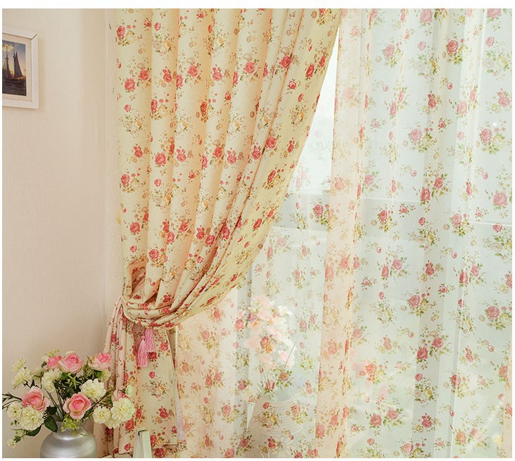 Us 13 73 12 Off Living Room Bedroom Den Curtain Fabric Screens Custom Finished Special Clearance Idyllic Small Floral Curtains In Curtains From Home