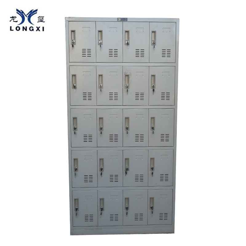 High quality gym metal 20door locker ,custom storage clothing wardrobe locker, steel office and school locker cabinet