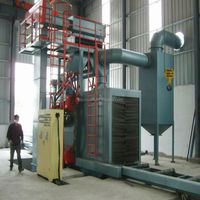 Q69 vertical steel plate shot blasting machine/steel profiles type shot blasting machine