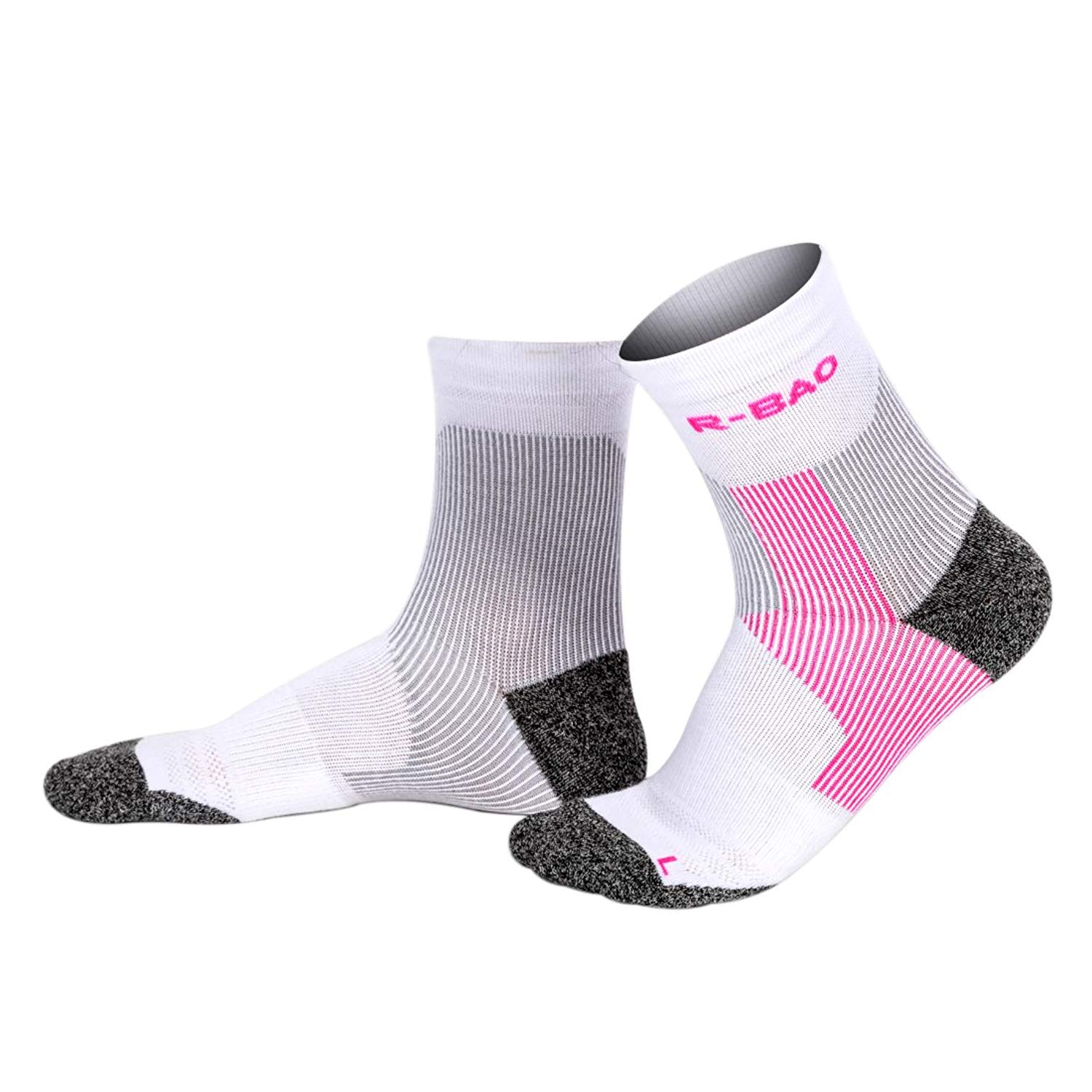 7c3addbb26e Get Quotations · Houlife Women s Ankle Protection Cushioned Athletic Sports  Marathon Quarter Compression Running Socks