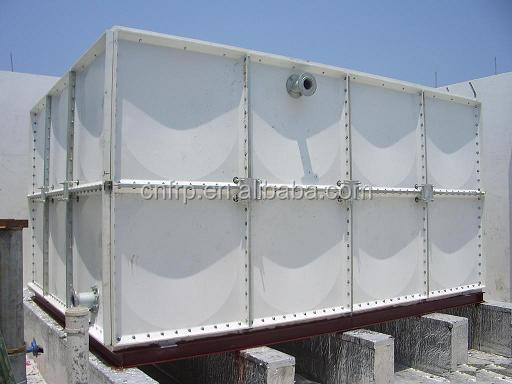Prefabricated FRP panel roof install water tank for drinking water storage