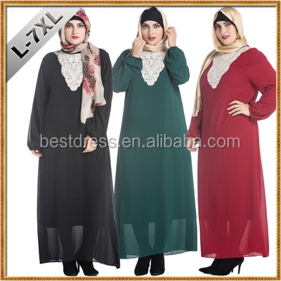 Middle East Muslim dress abaya plus-size long-sleeved dress new spring fashion leisure Middle East Muslim worship abaya