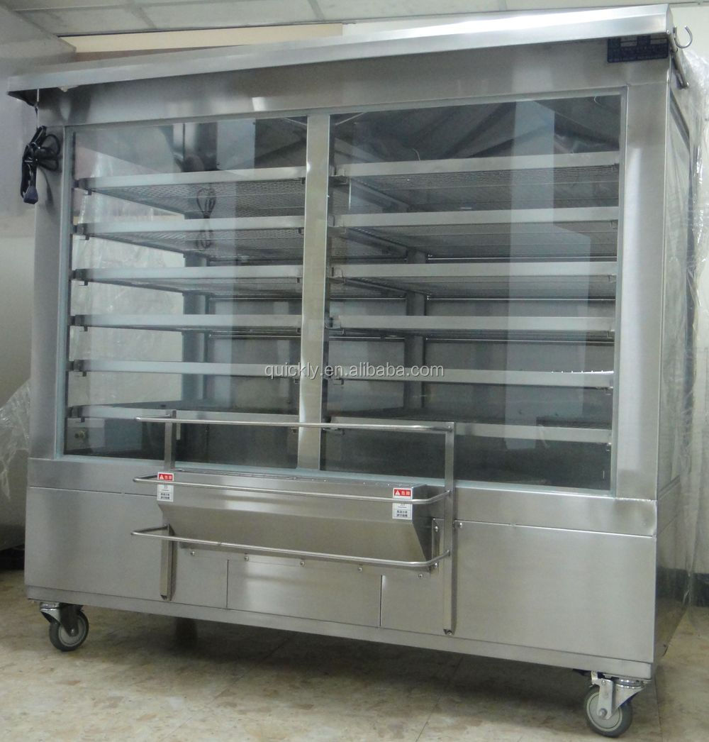 Food Display Steaming Warmer showcase Applied for Gas