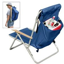 Backpacked Folding Beach Chair With