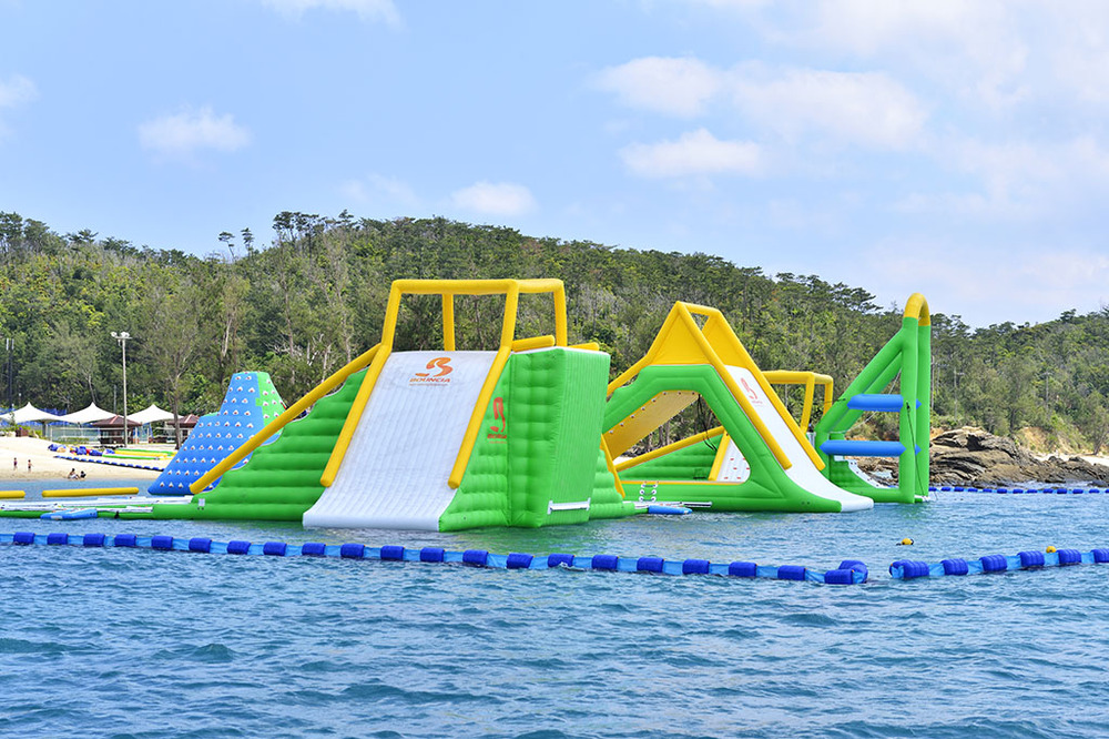 Inflatable Pool Water Park With Slides For Beach Activities,China ...