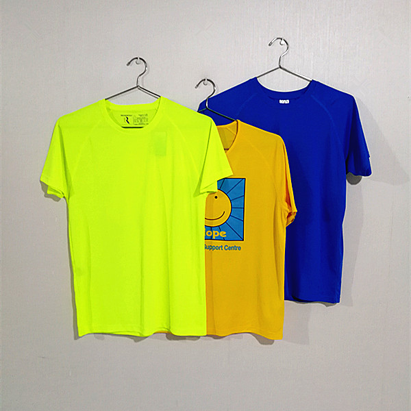 Dry fir t-shirts for promotion, sport and events, Can do personal design