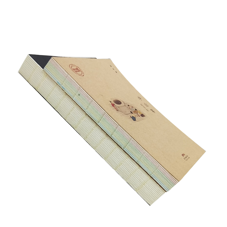 China Manufacturer Printing paper custom wholesale supply perfect binding Diary Kraft Paper Notebook