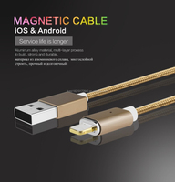 Fast Connect Magnetic MicroUSB Data Cable Magnetic USB Cable Magnetic Charging Cable