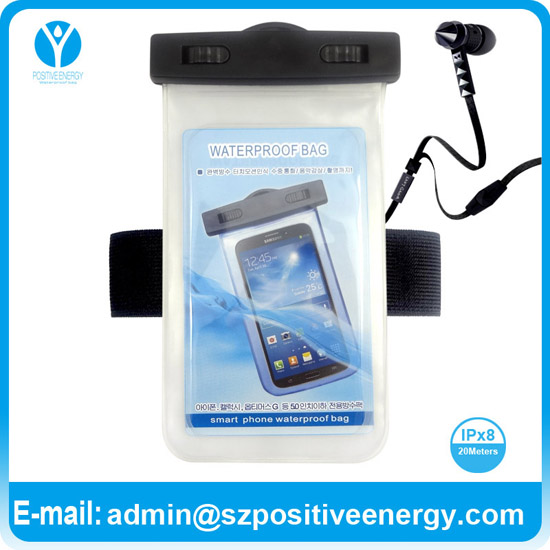 PVC waterproof bag for Sumsang I8350(Omnia W)