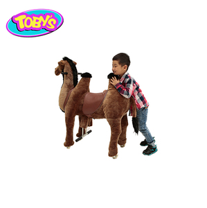 camel kid riding horse toy walking toy horse on wheels