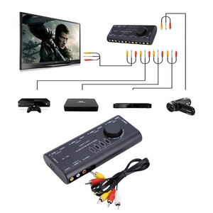 4 in 1 Out AV RCA Switch Box Audio Video Signal Switcher For Set-top Box DVD VCD TV